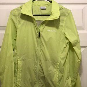 Women's Columbia light rain jacket